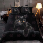 Cute Black Cat On The Night Bedding Set