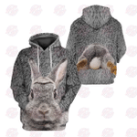 Love The Rabbit 3D All Over Printed Hoodie
