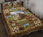 Horse Moment Picture - Quilt Bed Set