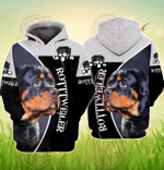 Love Rottweiler 3D All Over Printed Hoodie