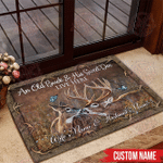 Hunting Doormat Customized Name An Old Buck And His Sweet Doe Live Here