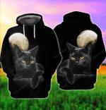 Cute Black Cat 3D All Over Printed Hoodie