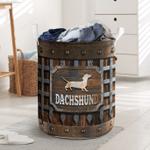 Dachshund Iron Vintage Laundry Basket