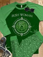 Irish Raglan Pajama Set Irish Woman