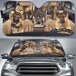 German Shepherd Family Car Sunshade HPV02