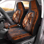 Love Horses Leather Pattern Car Seat Cover HPV02