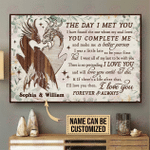 Personalized Dragon The Day I Met Horizontal Poster