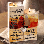 TO MY WIFE  - I Love You Candle Holder
