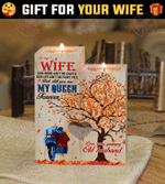 Husband To Wife - Our life ain't no fairy tale - Candle Holder