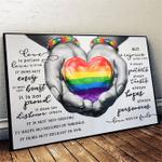 LGBT - Love Never Fails Horizontal Poster