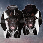 Love Pitbull 3D All Over Printed Hoodie