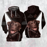 Love Labrador 3D All Over Printed Hoodie