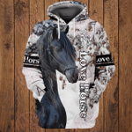 Love Horse 3D All Over Printed Hoodie HPV07