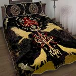 Viking Vegvisir Yggdrasil Quilt Bed Set