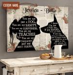 German Shepherd - Always be by your side Custom Name Canvas