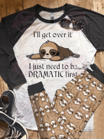 Sloth Dramatic Pajama Set