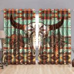 Native American Buffalo Pattern Window Curtains