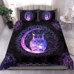 Owl Mandala Style Bedding Set