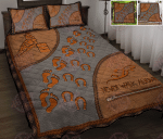 Barrel Racing Never Walk Alone Quilt Bed Set & Quilt Blanket
