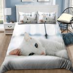 Lovely White Kitty Cat Bedding Set