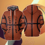 Basket Ball It's My DNA 3D All Over Printed Hoodie