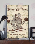 Fitness We're A Team Vertical Poster
