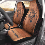 Love Horse Leather Pattern Print seat covers HPV03