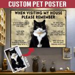 Tuxedo Cat Horizontal Poster Customize Cats Lover