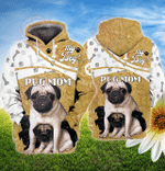 Pug Mom 3D All Over Printed Hoodie