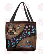 Rottweiler Never Walk Alone All-Over Tote