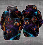 Abstract Rottweiler 3D All Over Printed Hoodie