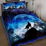 Wolf Moon Quilt Bed Set