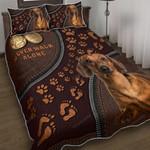 Dachshund – Never Walk Alone Quilt Bed Set