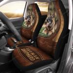 German Shepherd Leather Pattern Car Seat Covers