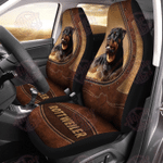Rottweiler Leather Pattern Car Seat Covers