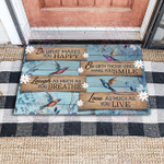 Hummingbird Do what you love gift for you Doormat