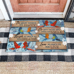 Parrot Do what you love gift for you Doormat
