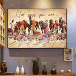 God says you are cowgirl Horizontal Poster