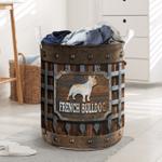 French Bulldog Iron Vintage - Laundry Basket