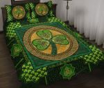 Irish - Shamrock Celtic Green Quilt Bed Set