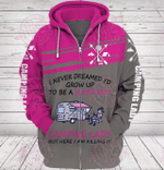 Camping Lady 3D All Over Printed Hoodie