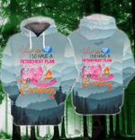 Plan Camping 3D All Over Printed Hoodie