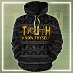 Truth Know Myself All Over Printed Hoodie