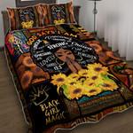 God Says I Am Black Woman Quilt Bed Set