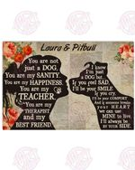 Personalized My Pitbull - My Best Friend Horizontal Poster