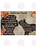 Personalized My French Bulldog - My Best Friend Horizontal Poster