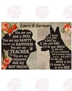 Personalized My German Shepherd - My Best Friend Horizontal Poster