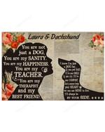 Personalized My Dachshund- My Best Friend Horizontal Poster