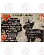 Personalized My Yorkshire Terrier - My Best Friend Horizontal Poster