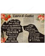 Personalizable  My Golden Retriever - My Best Friend Horizontal Poster
